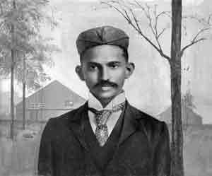 M.K. Gandhi, Esq., who sought justice in British courts
