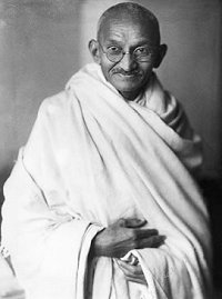 Mahatma Gandhi, father of his nation